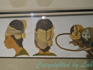 ภาพแสดงวิธีการพันหัวเพื่อดัดกระโหลกให้ยืดยาวขึ้น (เพื่อ?)