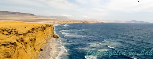เวิ้งผาและท้องทะเล ส่วนหนึ่งของอุทยานแห่งชาติปารากัส (Reserva Nacional De Paracas)
