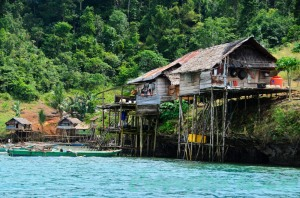 Houses of migrants from Sulawesi.