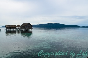 Mambefor Homestay over the coral reef