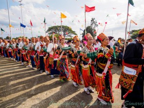 Local Kachin villagers dress up for the dance.