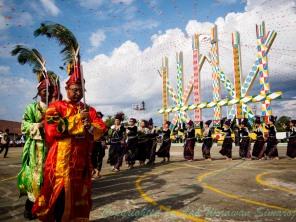 Ritual Manau Dance of Kachin people.