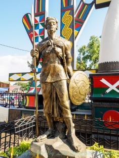 A statue of Kachin ancestors.