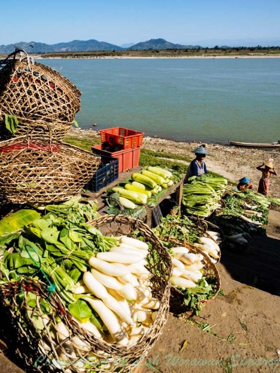 Local market in Myitkyina.