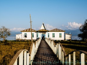 The only guesthouse so far at the water edge of Indawgyi Lake.