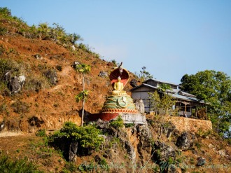 Get to this Buddha image and you will see the panoramic view of the wetland.