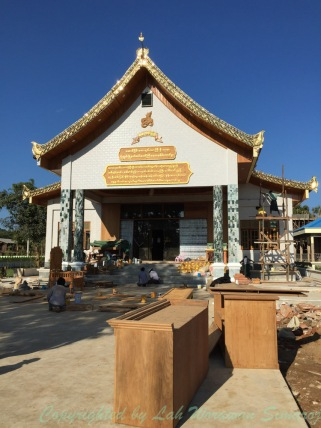 The temple housing the bamboo image.