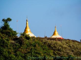 Pagodas on the cliff.