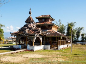 A Buddhist temple can still be seen in Chirstian communities up north