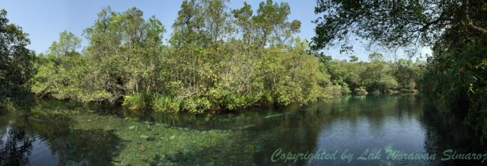 แอ่งน้ำที่มีน้ำใสแจ๋ว จุดเริ่มต้นฝึกการใช้หน้ากากดำน้ำก่อนล่องลำน้ำ Rio de Prata
