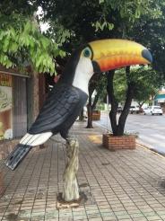 นกทูแคน อีกหนึ่งสัญลักษณ์ของป่าอเมริกาใต้ที่นำมาทำเป็นตู้โทรศัพท์สาธารณะในเมือง Bonito