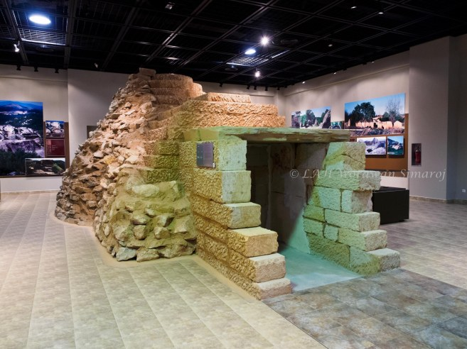 The actual-sized tomb replica of the ancient Thracian civilization at the Thracian Art Museum of the Eastern Rhodopes.