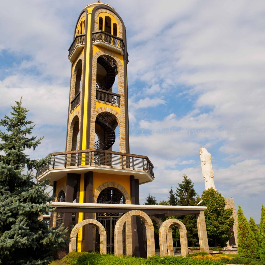 The bell tower on Yamacha hill.