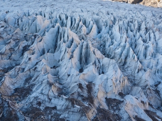 These are ices (glacier), not rocks.