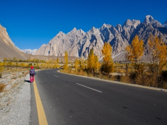Karakorum HWY at Passu town