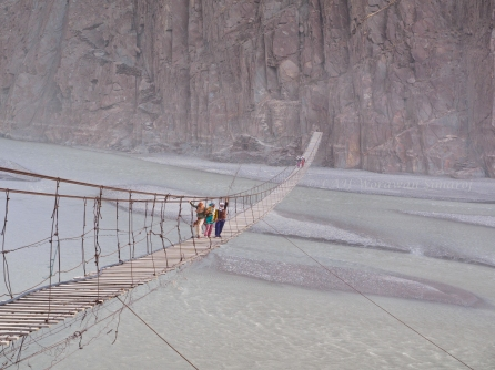 29. Hussaini Suspension Bridge across Hunza river