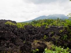 หินลาวาสีดำที่ Batu Angus