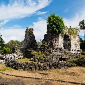 ซากปรักหักพังของ Fort Kastera ป้อมปราการยุโรปแห่งแรกของเกาะ